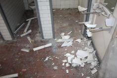 vandalised toilets