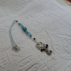 Buddha accent focal with aqua blue silver by TheVelvetMannequin, $15.00