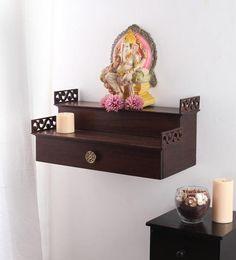 Temple Design For Home, Mandir Design, Pooja Room Door Design, Design Bedroom, Pooja Mandir, False Ceiling Living Room, Wall Hanging Shelves, Pooja Rooms, False Ceiling Design