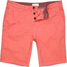 coral red shorts - casual shorts - shorts - men - River Island