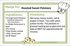 ROASTED SWEET PATATOES Recipe - CREATING A SIMPLER LIFE