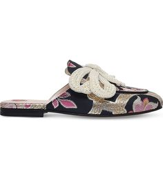 GUCCI Princetown chinoiserie jaquard slides