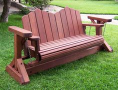 Redwood Glider Swing Bench - Heavy Duty!