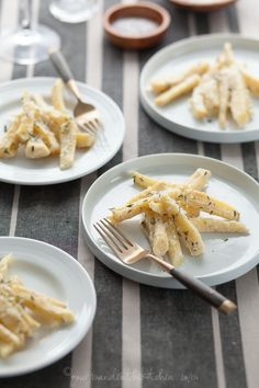 Creamy Baked Parsnips with Thyme - An easy, creamy side of oven-braised parsnips with thyme.