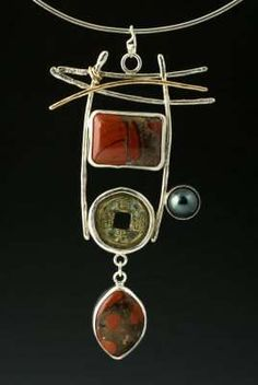 Artful Necklaces & Earrings Using Silver & Stones by Shirley Price