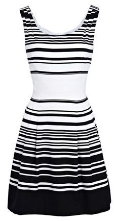 black and white stripe dress, bridesmaids