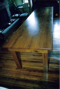 Image detail for -12 farm table 5 legs used re sawed wormy oak barn beams