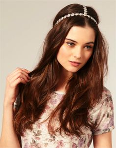 wedding hairstyles for long hair | bohemian-bridal-style-wedding-hairstyle-all-down-embellished-headband ...