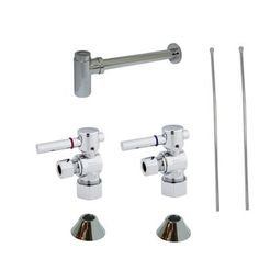 Kingston Brass Trimscape CC53301DLLKB30 Contemporary Plumbing Sink Trim Kit with P Trap for Lavatory and Kitchen, Chrome - Chrome