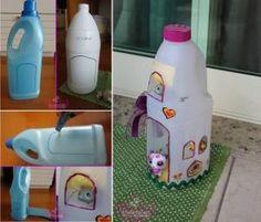 Botella de plástico Botella DIY casa de muñeca de DIY plástico casa de muñeca por diyforever