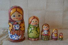 Russian matryoshka Marfa nesting dolls