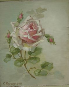 I want to learn how to paint roses like this!