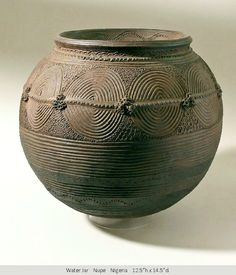 water jar vessel Nupe Nigeria