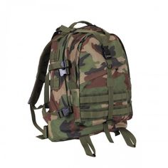 Rothco's Large Transport Pack is MOLLE and hydration bladder compatible and features a waterproof bottom coated lining and pockets for water repellency. Tactical Packs, Tactical Backpack, Tanker Boots, Molle Gear, Kids Fashion, Men's Fashion, Jungle Boots, Edc Bag, Camouflage Colors