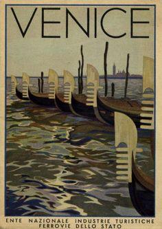 Vintage travel poster for Venice