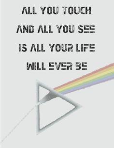 Typography. Pink Floyd lyric.  #pinkfloyd #typography #graphicdesign #design