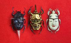 Paris-based Japanese artist Nozomi created an exquisite series of iridescent crystaline and mineral beetle specimens. Entitled The Mineral Insect, each beautiful beetle was designed using sculpting. Cool Insects, Bugs And Insects, Art Pierre, Japanese Mask, Japanese Poster, Insect Art, Tatoo Art, Arte Horror, 3d Prints
