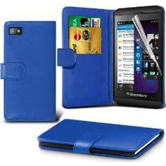Buy Blackberry Z10 Leather Wallet Case Cover (Blue) Plus Free Gift, Screen Protector and a Stylus Pen, Order Now Best Valued Phone Case on Amazon! By FinestPhoneCases NEW for 7.99 USD | Reusell