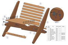 Diy Wooden Lawn Chairs How To Finish Patio Furniturefree Wood Chair Kit Folding Fair Furniture Diy Wooden Lawn Chairs How To Finish Pati. Folding Furniture, Diy Outdoor Furniture, Wood Furniture, Outdoor Chairs, Modern Furniture, Woodworking School, Easy Woodworking Projects, Woodworking Plans, Woodworking Classes