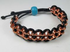 "Leather and Chain Bracelet tutorial. From ""Legendary Beads""."