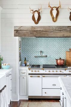 Love this backsplash! Southern Farmhouse Kitchen by Ashley Gilbreath Interior Design Southern Farmhouse, Country Farmhouse Decor, Farmhouse Style Kitchen, Modern Farmhouse Kitchens, Country Kitchen, Southern Living, Farmhouse Décor, Farmhouse Design, Craftsman Kitchen