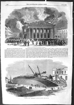 1855 Fire Theatre Monnaie Brussels
