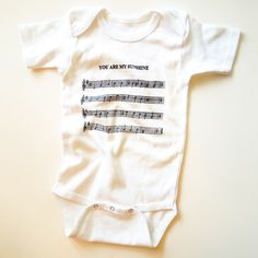 Sheet Music Onesie, i know he's too big for onesies