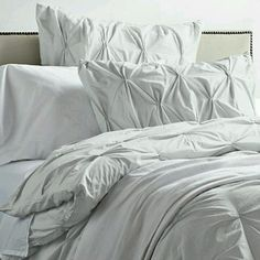 My Beautiful Bedding From West Elm Organic Cotton Pintuck Duvet Cover +  Shams   Sea Spray