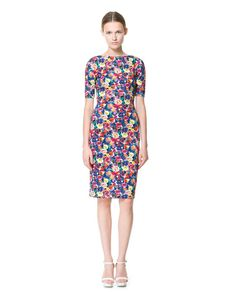PRINTED DRESS - Dresses - Woman | ZARA Singapore