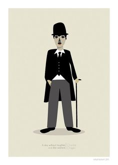 Charlie Chaplin Print  8x10 or A4 by JudyKaufmann on Etsy, $25.00