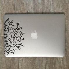 Half Mandala Laptop Stickers Laptop Decal Macbook