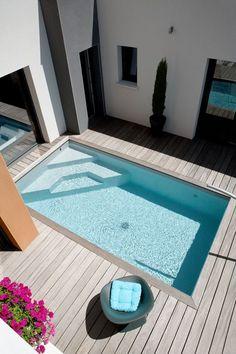 Caron Piscines   Piscine enterrée en béton Mini-piscine