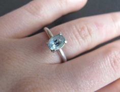Oval Topaz sterling silver ring by SilverJewelleryHS on Etsy