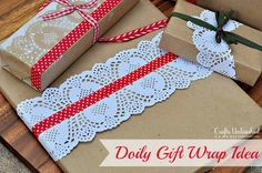 Gift Wrap Idea: Paper Doilies & Washi Tape