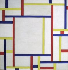 Painting (white), 1945. Fritz Glarner was a Swiss-American painter. Glarner was a leading proponent of so-called Concrete Art, an artists' movement whose roots lead back to the painters of De Stijl and the principles of the Bauhaus. Glarner's mature works, such as this, were most strongly influenced by the Neoplastic theory of Piet Mondrian, with whom he associated in New York during the 1940s.