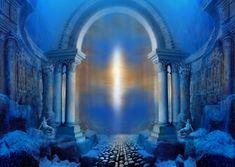 Artist's depiction of the sunken city of Atlantis