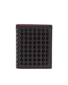Christian Louboutin ~ 'Paros' | Spiked Calf Leather Wallet