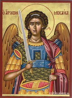 High quality hand-painted Orthodox icon of St Archangel Michael (Large). BlessedMart offers Religious icons in old Byzantine, Greek, Russian and Catholic style. Byzantine Icons, Byzantine Art, Early Christian, Christian Art, Greek Icons, Romulus And Remus, Paint Icon, Archangel Michael, Religious Icons