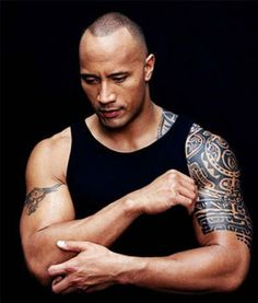The rock Famous Tattoos