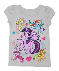 4850aca6 Heather Gray My Little Pony Puff-Sleeve Tee - Toddler Cheer Shirts, Party  Shirts