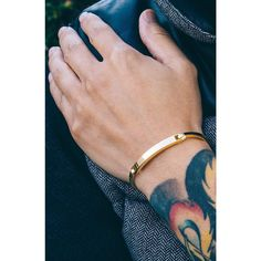 Gold Chain Men Outfit Mister Axle ID Bracelet - Gold - Mister SFC - 4 - The Axle Bracelet is cast in high grade Stainless Steel Bracelets Design, Mens Gold Bracelets, Mens Gold Jewelry, Diamond Bracelets, Gold Bangles, Bracelets For Men, Jewelry Design, India Jewelry, Fine Jewelry