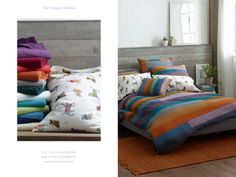 5 oz. Flannel Bedding, Uptown Dog Flannel Bedding, and Spectrum Quilt