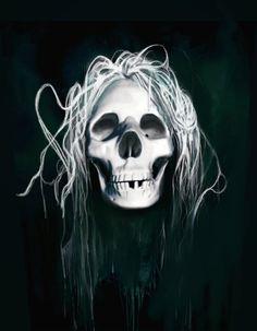 Skull, Digital Art, Gareth Pritchard, made with GIMP.