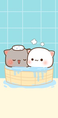 Cute Cat Wallpaper, Kawaii Wallpaper, Cartoon Wallpaper, Cute Animal Drawings Kawaii, Cute Cartoon Drawings, Chibi Cat, Cute Chibi, Cute Cartoon Images, Cute Images