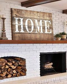 Vintage Decor Diy Large Rustic Home Sign - Farmhouse Wall Decor Easy Home Decor, Handmade Home Decor, Cheap Home Decor, Foyer Decorating, Decorating Your Home, Decorating Ideas, Decorating Websites, Interior Decorating, Farmhouse Wall Decor