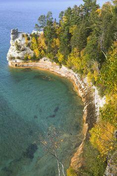 Miner's Castle Overlook, Pictured Rocks National Lakeshore, Lake Superior, Michigan (U.P.)