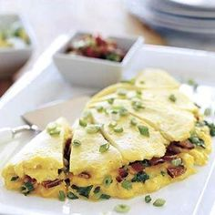 Bacon and Cheddar Omelette for Six