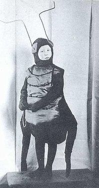 Its W.H. Audens birthday! You will probably see lots of distinguished-looking portraits of the English poet circulating around, but this is our favorite. Hes dressed as a beetle. Is that not the cutest? (via Don_Share) Want more to read, look at, and listen to? We have you covered: Scans of Audenslibrary recordat the NYPL Aroundup of articles on Auden's life and poetry by Alan Jacobs at The American Conservative An audio recording of Auden reading perhaps his most