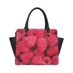 Raspberries Classic Shoulder Handbag. FREE Shipping. #artsadd #bags #fruits