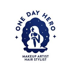 One Day Hero - hair stylist and make-up artist  logo design. Concept based on Birth of Venus. DM if you have a project in mind.…